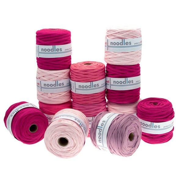noodles Textilgarn Pinktöne ca. 500-700g