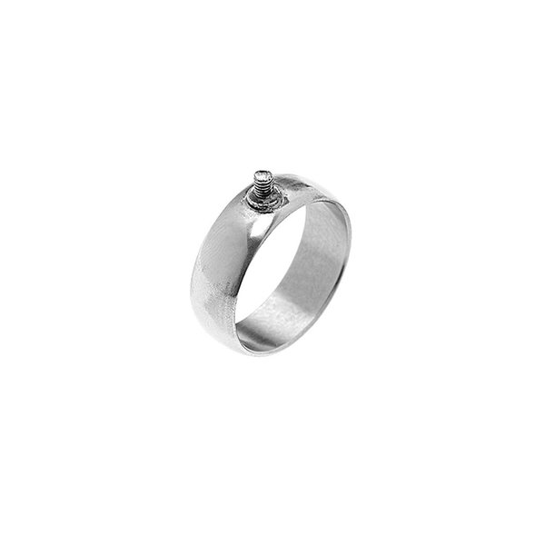 Rico Design Ring breit 17,5mm Schraubgewinde silber