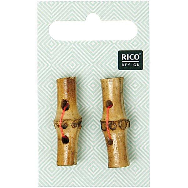 Rico Design Knebelknopf 3,6cm 2 Stück