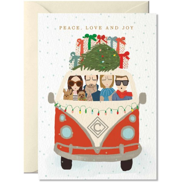 Nelly Castro Grußkarte Peace, Love and Joy 14,8x10,5cm