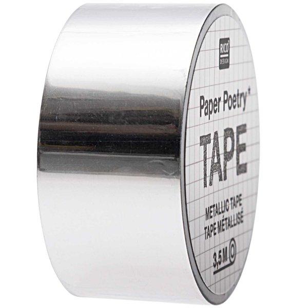 Paper Poetry Mirror Metallic Tape silber 19mm 3,5m