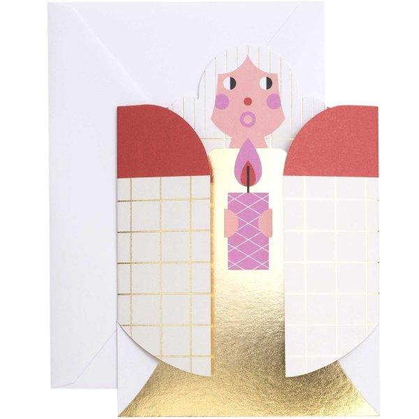 Paper Poetry 3D-Karte Engel rot-gold B6