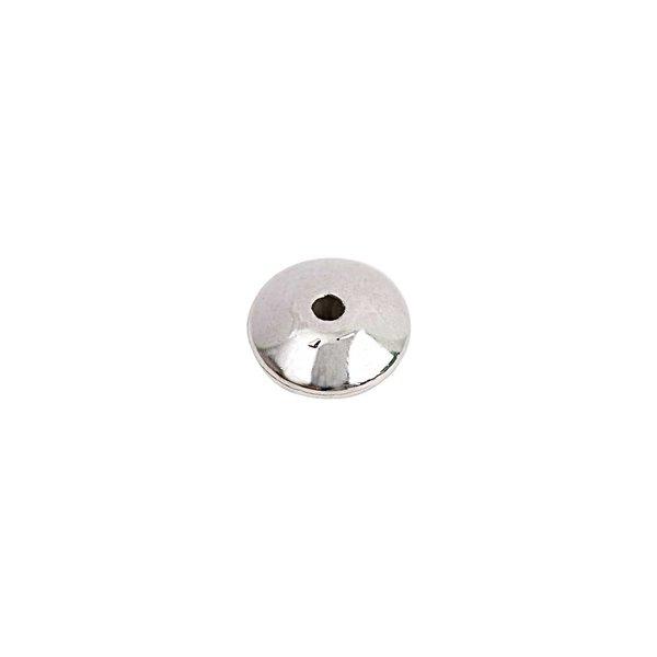 Rico Design Perle glatt rund silber 9x5mm 30 Stück