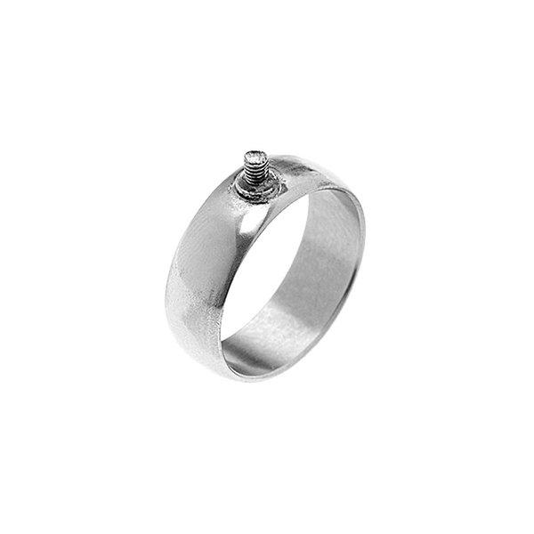 Rico Design Ring breit 18mm Schraubgewinde silber