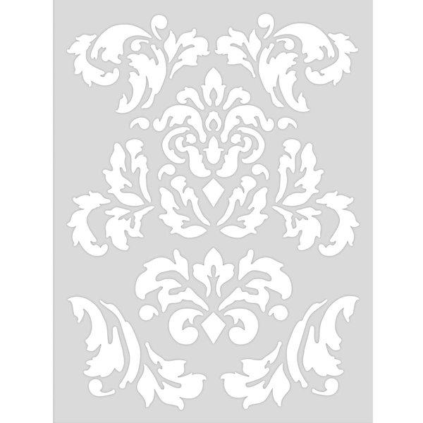 Rico Design Schablone romatische Ornamente 18,5x24,5cm selbstklebend