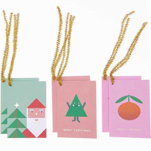 Paper Poetry Kärtchenanhänger pastell Merry Christmas 6 Stück