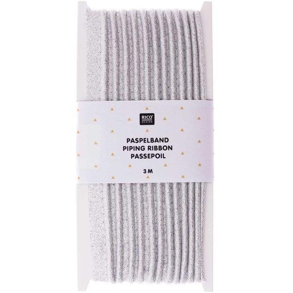 Rico Design Paspelband silber 1cmx3m