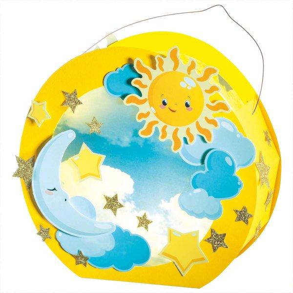 folia Laternen Set Sonne, Mond und Sterne