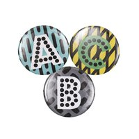Rico Design Button Buchstabe mehrfarbig