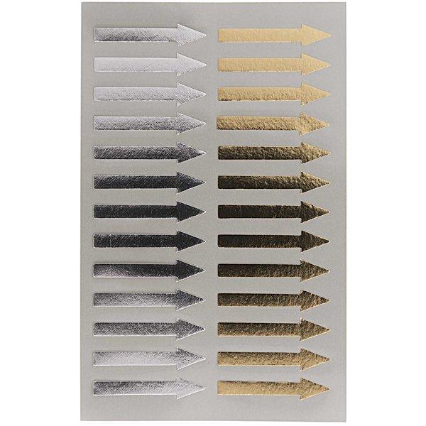 Paper Poetry OfficeSticker Pfeile gold-silber 4 Bogen