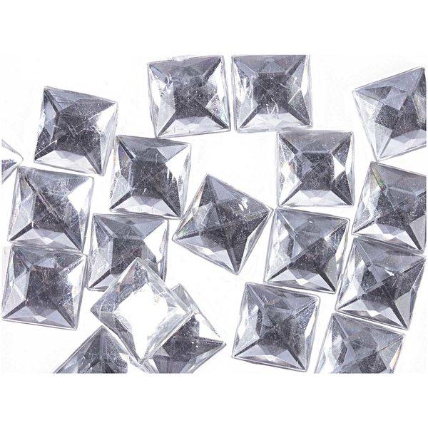 Rico Design Strass Quadrat transparent ca. 50 Stück