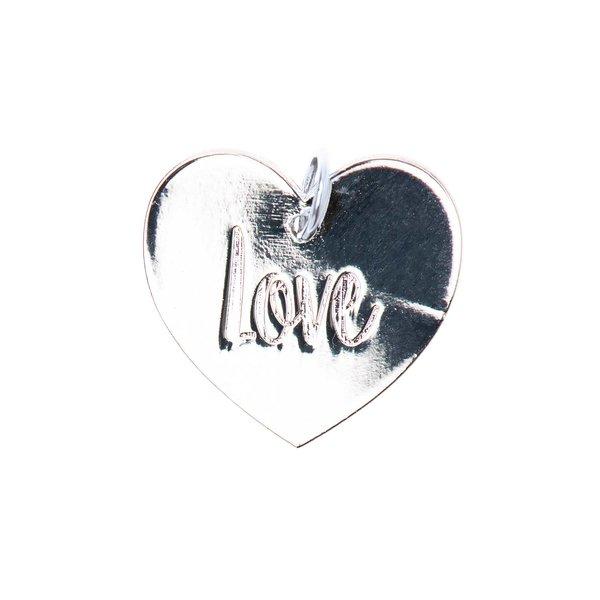 Mix it Up - Jewellery Anhänger Scheibe Love silber Ø17mm