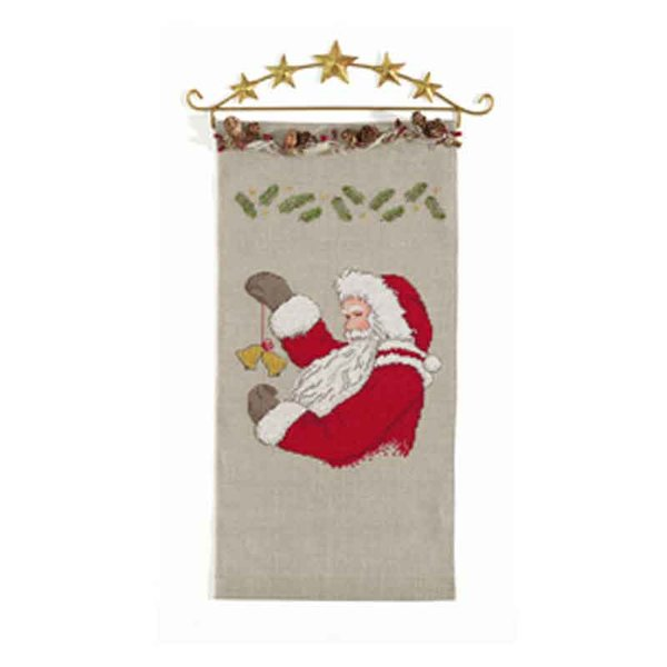 Rico Design Stickpackung Behang Nikolaus natur 20x40cm