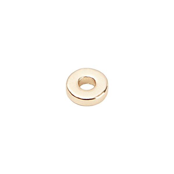 Rico Design Scheibe rund gold 8mm 25 Stück