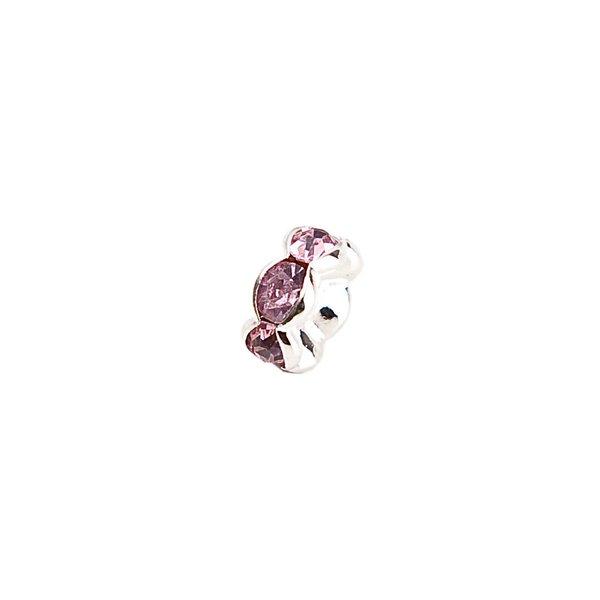 Rico Design Strassrondell wellig rosa 8mm 6 Stück