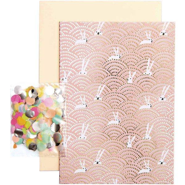 Paper Poetry Grußkartenset Bunny Hop Hasen im Feld