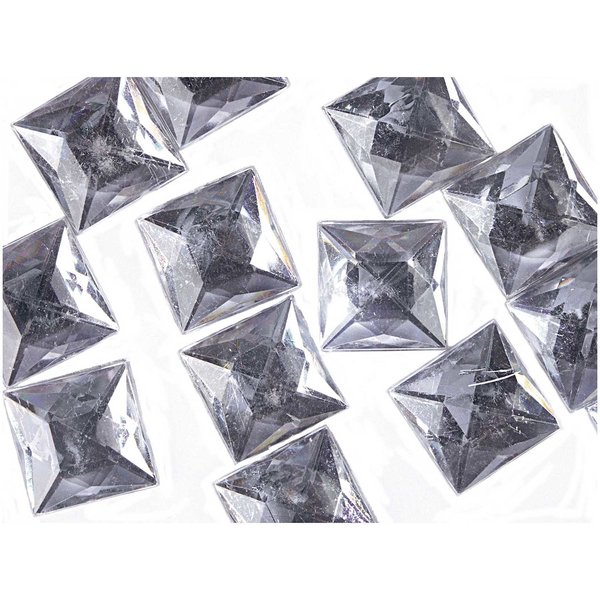 Rico Design Strass Quadrat transparent ca. 25 Stück