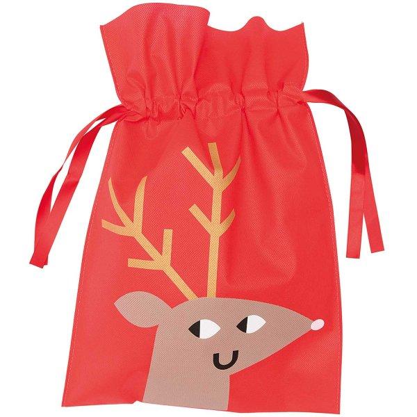 Paper Poetry Geschenktüte Rentier groß rot 30x25cm