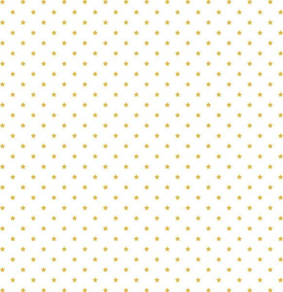 Rico Design Stoff Sterne weiß-gold 50x140cm