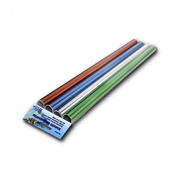 folia Bastelfolie in Kleinrollen mehrfarbig  30x50cm 4 Stück