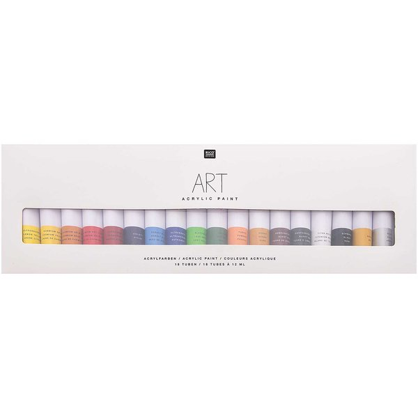 Rico Design Art Künstler Acrylfarben-Set Basic 18x12ml