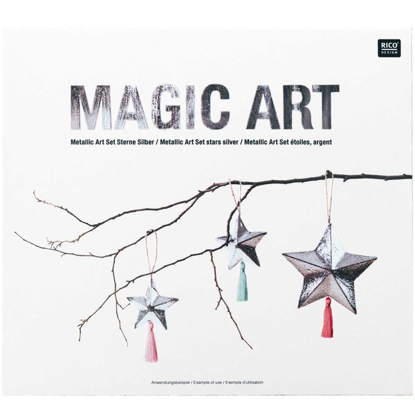 Made by Me Magic Art Set Sterne silber