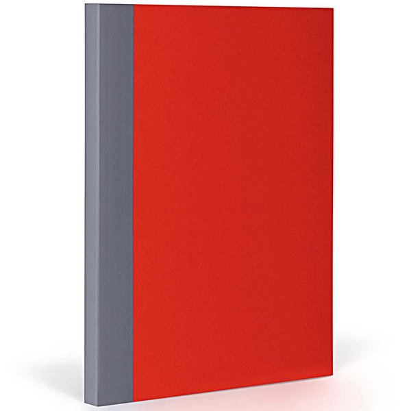 FANTASTICPAPER Notizbuch XL kariert cherry-grey