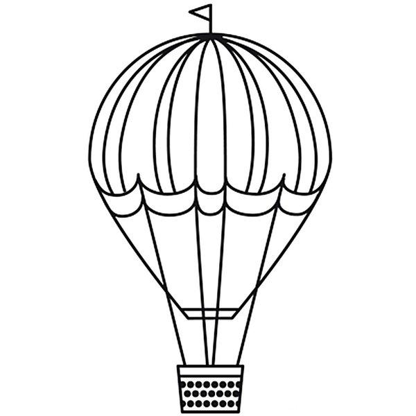 Rico Design Stempel Heißluftballon rund 3,5cm