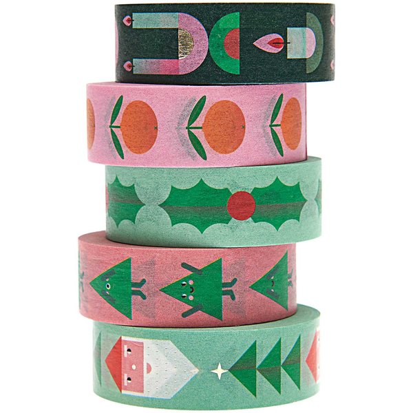 Paper Poetry Tape Set Merry Christmas 5teilig