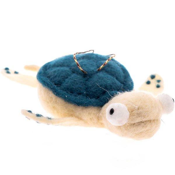 Filz-Schildkröte zum Hängen 15cm