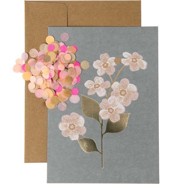 Paper Poetry Grußkartenset Magnolie dunkelgrau