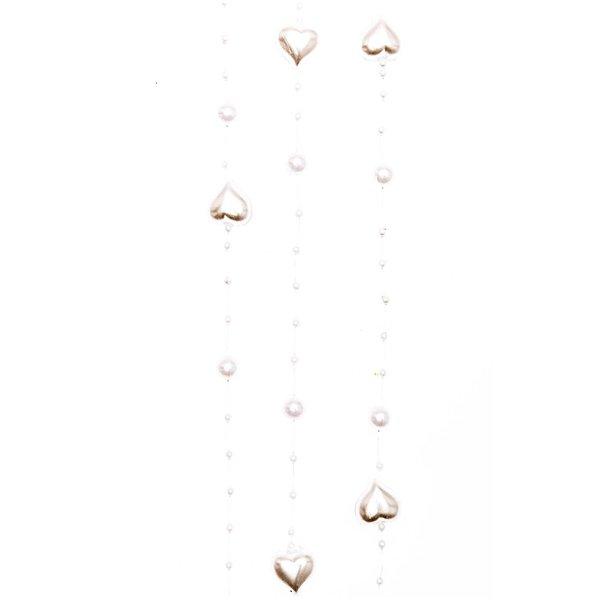 Herzenperlen Girlande weiß 120cm