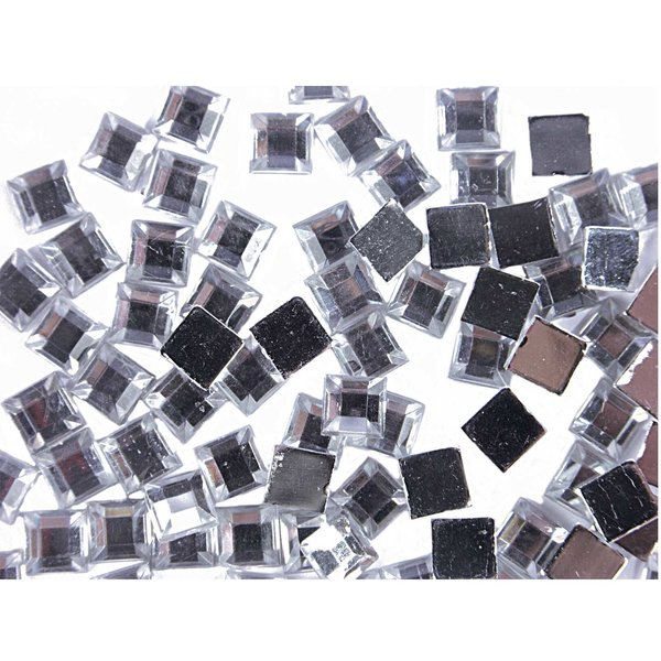 Rico Design Strass Quadrat transparent  100 Stück