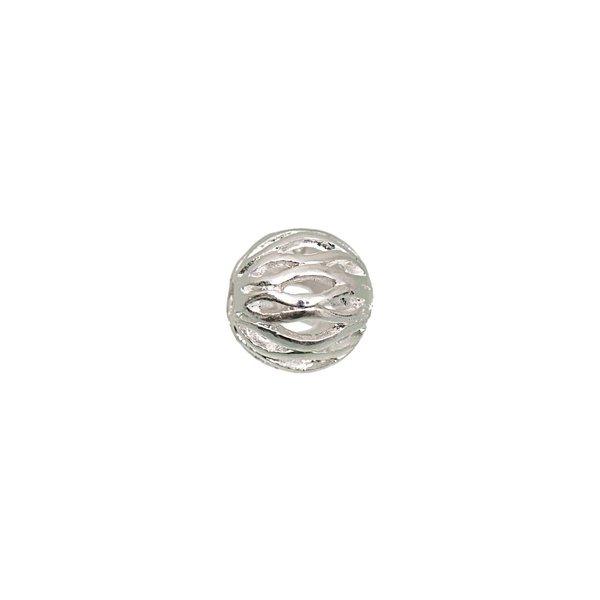 Jewellery Made by Me Metallkugel Ornament silber 10mm 6 Stück