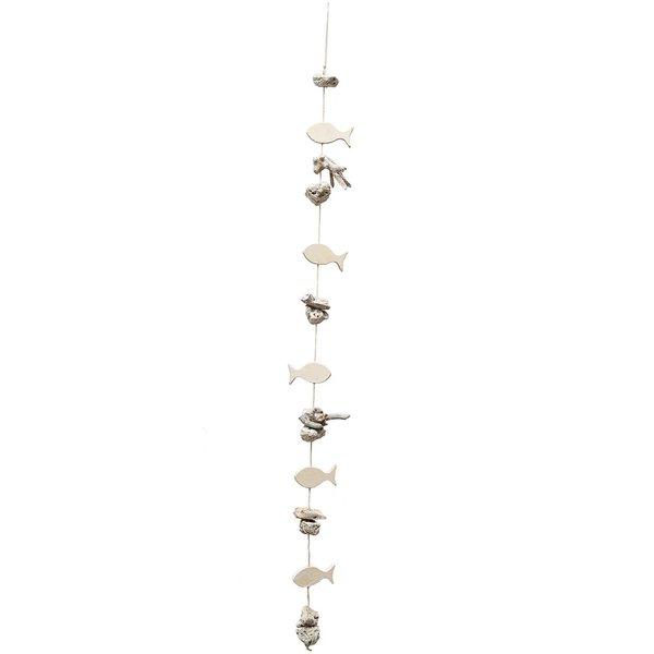 Girlande Maritim weiß-natur 100cm