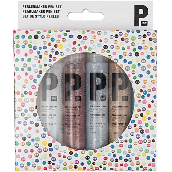 Rico Design Perlenmaker Pen Set glitter 6x30ml