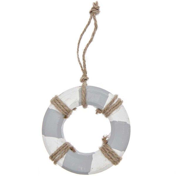 Ohhh! Lovely! Holzhänger Rettungsring weiß-grau 10cm