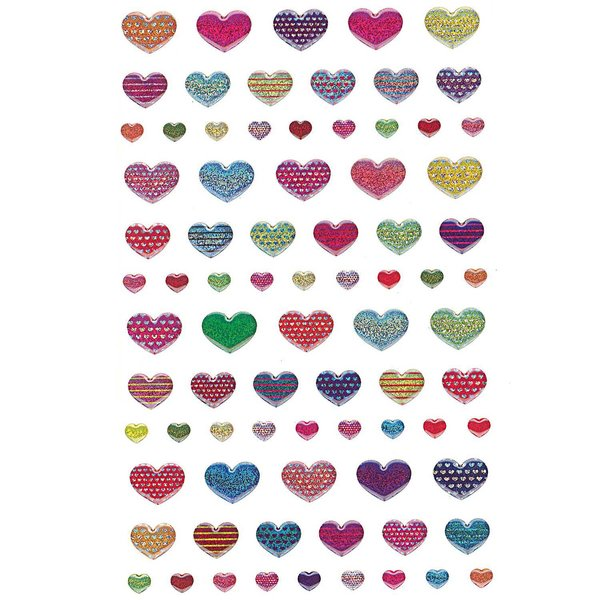 Paper Poetry 3D Sticker Herzen klein