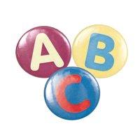 Rico Design Button Buchstabe