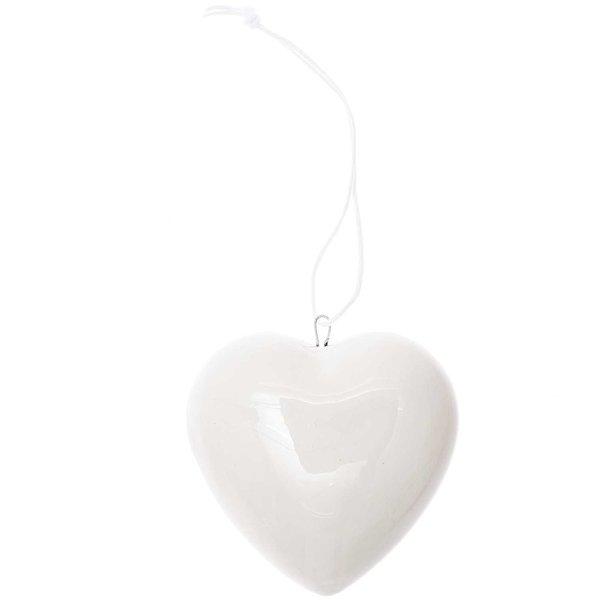 Ohhh! Lovely! Porzellanhänger Herz groß weiß 3,5x7,5x12,5cm