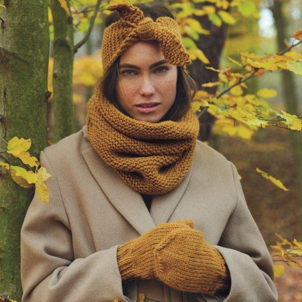 Strickset Stirnband, Loop & Handschuhe Modell 03/11/12 aus Alpaca Twist Special