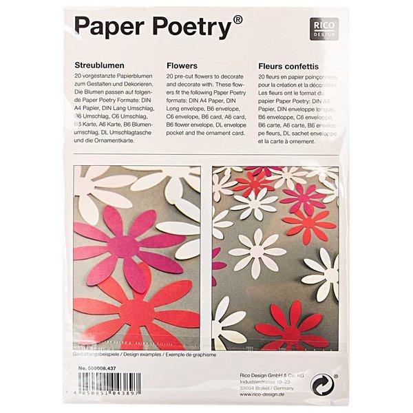 Paper Poetry Papierzuschnitte Streublumen 20 Stück