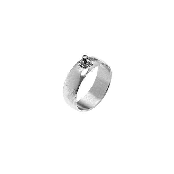 Rico Design Ring breit 16,5mm Schraubgewinde silber