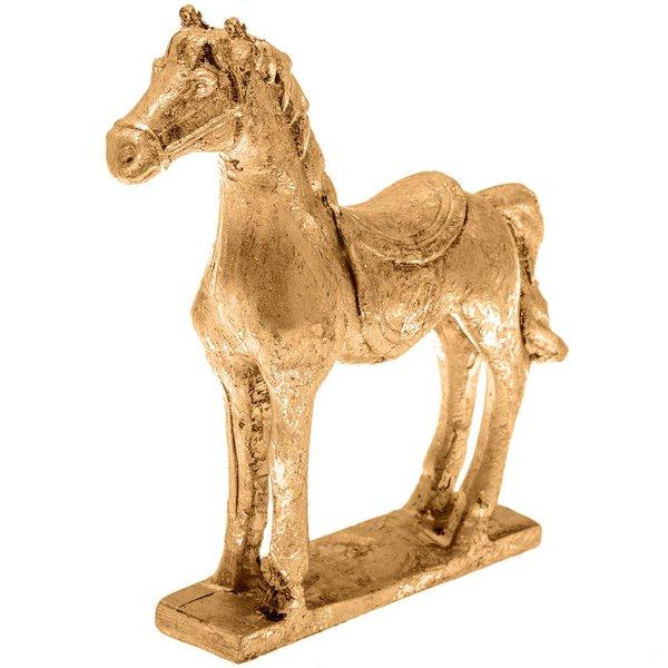 Deko-Pferd stehend gold 12x11,5cm
