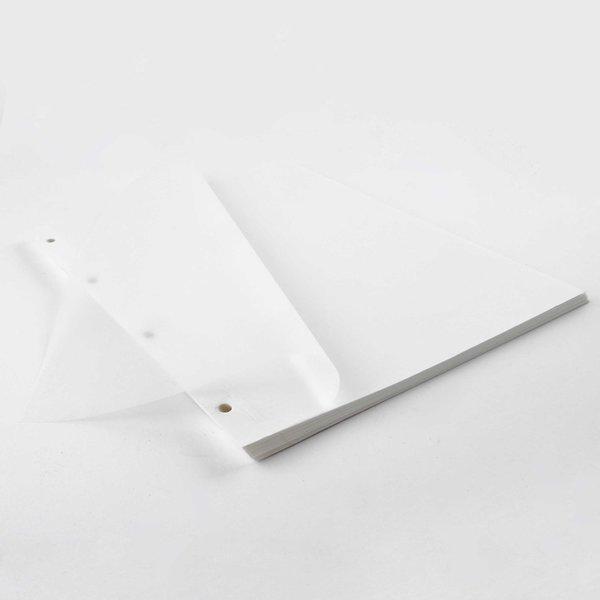 goldbuch Fotokarton mit Pergamin weiß A4 20 Blatt