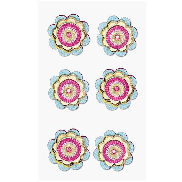 Paper Poetry 3D Sticker Blüten rund
