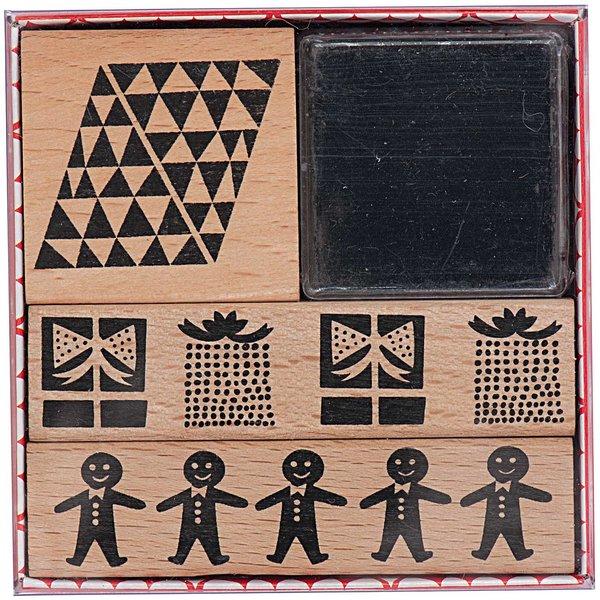 Paper Poetry Stempelset X-MAS Bordüren 3 Stück
