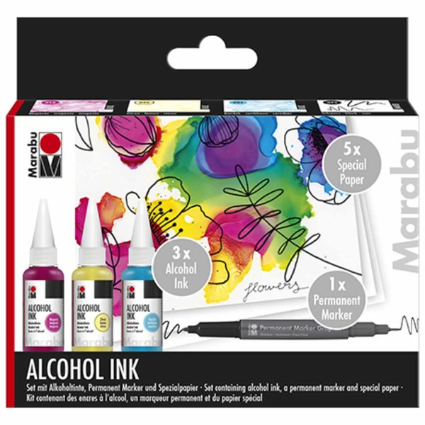 Marabu Alcohol Ink Set Flowers