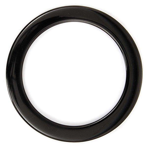 Rico Design Taschengriffe rund flach schwarz 14cm 2 Stück