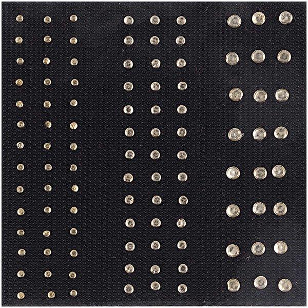 Jewellery Made by Me Bügelmotiv Streifen creme 2-4mm Strass
